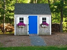 colorful garden sheds