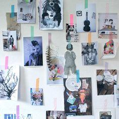 Billeder sat op med masking tape