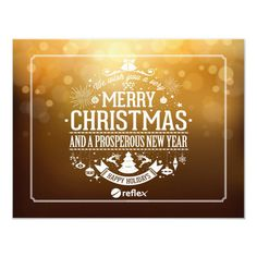 Corporate Holiday Card With Company Logo #business #christmas #cards #corporate #christmas