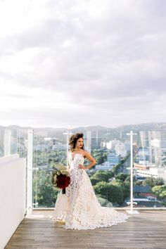 The Oscar de la Renta Fern bridal gown was the perfect look for this modern and moody editorial at Mr.C's Beverly Hills #oscardelarentabride #beverlyhillswedding Hotel Wedding Inspiration, Bridal Gowns, Wedding Dresses, Fern, Beverly Hills, Editorial, Wedding Day, Bride, Style