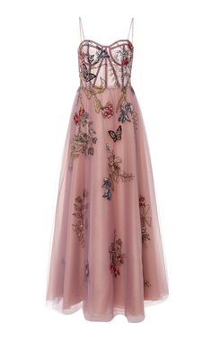 Tulle A-Line Gown with Floral and Butterfly Beading by PatBo Patricia Bonaldi Resort 2019 Evening Dresses, Prom Dresses, Vestidos Vintage, A Line Gown, Lovely Dresses, Mode Inspiration, The Dress, Dream Dress, Dress To Impress