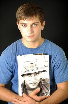 """Grandson of Larry Wayne Chaffin, """"War is Hell""""  Marcus, grandson of Larry Wayne Chaffin. He looks so much like his grandfather."""