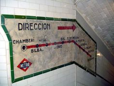 La estación fantasma Chamberí #Madrid Spain