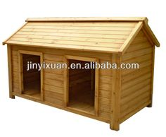 Homemade Dog Kennel Plans for large dogs   Large Wood dog kennel    twin dog house   Double Large dog house for big dogs   dog kennel   two
