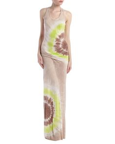 Hamptons Tie-Dye Maxi Dress, Lime Zion by Young Fabulous and Broke at Last Call by Neiman Marcus.