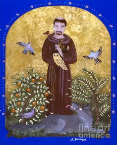 Good St. Francis, you loved all of God's creatures. To you they were your brothers and sisters. Help us to follow your example of treating every living thing with kindness. St. Francis, Patron Saint of animals, watch over our animals and keep them safe and healthy. Amen.
