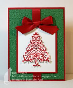 Love this simple Christmas card!!