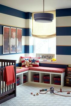 Red, White and Blue Boy's Nursery