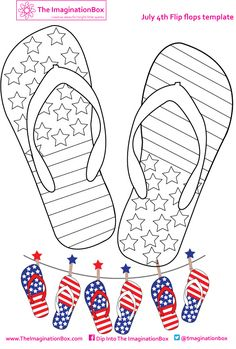 free flip flop colouring sheet