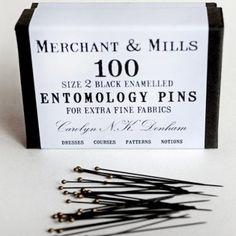 Merchant and Mills Entomology Pins