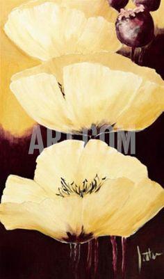 Yellow Poppies IV Print by Jettie Roseboom at Art.com