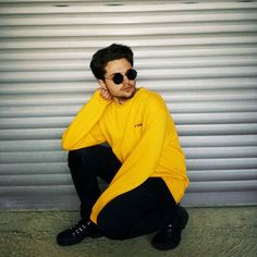 #yellow #outfit #ootd #instagram #model #fashion #men #man #male #vsco #filter #sunglasses #lennon #teen #boots #black #colors #winter #fall #instamodel