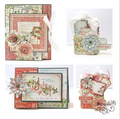 Graphic 45 Presents a July Time to Flourish Cards   Tags Project Sheet