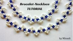 Beading tutorial for beginners. Bracelet and necklace tutorial. Learn to make your own beautiful jewelry-beaded bracelet and beaded necklace- from home with this beading tutorial. Make a beautiful jewelry set with pearl beads and seed Diy Jewelry Necklace, I Love Jewelry, Simple Jewelry, Beaded Bracelets, Embroidery Bracelets, Craft Jewelry, Jewellery, Diy Jewelry Tutorials, Beading Tutorials