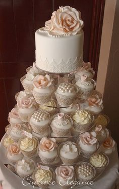 wedding cakes with cupcakes Trendy Vintage Wedding Cake Table B. - wedding cakes with cupcakes Trendy Vintage Wedding Cake Table Bridal Shower Id - Vintage Wedding Cake Table, Black Wedding Cakes, Fall Wedding Cakes, Wedding Cakes With Cupcakes, Vintage Party, Beautiful Wedding Cakes, Wedding Cake Designs, Beautiful Cakes, Wedding Vintage