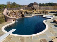 This brown patterned in ground pool liner gives your pool - Swimming pool companies in memphis tn ...