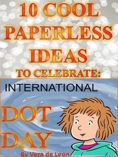 dot day art projects International Dot Day is a global celebration of creativity, inspired in Peter H. Reynolds book, called, The Dot. Every year, thousands of kids around the world Life Skills Lessons, Teaching Life Skills, Teacher Librarian, Teacher Tools, Elementary Library, Art Lessons Elementary, Library Lessons, Library Art, International Dot Day