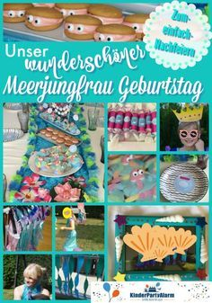 A wonderful mermaid birthday! - Nice ideas for your next mermaid children& birthday, implemented quickly and easily, with ide - 50th Birthday, Birthday Cards, Mario Party Games, Mermaid Kids, Hobbies For Kids, Popular Crafts, Christmas Party Food, Mermaid Birthday, Diy Party