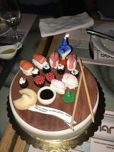 My shushi birthday cake