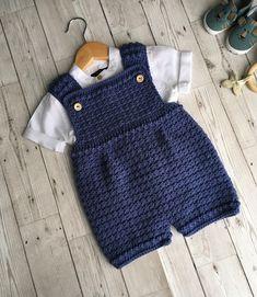 Crochet Pattern Baby Romper - Newborn to 24 months Pattern Baby, Romper Pattern, Baby Knitting Patterns, Baby Patterns, Crochet Patterns, Beanie Pattern, Free Pattern, Baby Girl Crochet, Crochet For Boys