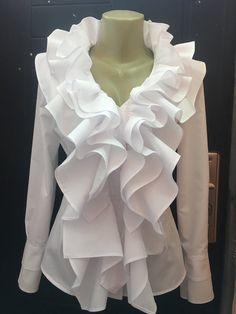 Danger- do not allow vollar to look like this : Pirate blouse Gothic shirt Steampunk blouse Lolita White Cotton blouse Ruffled blouse Romantic Diy Fashion, Fashion Dresses, Vintage Fashion, Fashion Tips, Fashion Design, Color Fashion, Fashion Quotes, French Fashion, Modest Fashion