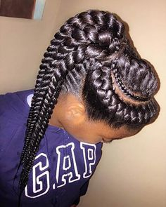 Goddess Braids into a High Ponytail #protectivestyle