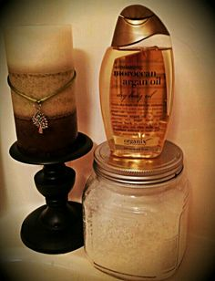 Mix Dr. Teal's Lavender and Chamomile Epsom Salts with hot Morrocan Aragon oil to create spa quality soft skin. Smells divine!