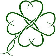 Celtic Clover Tatto Design By Seanroche Designs Interfaces Tattoo Celtic Clover Tattoos, Four Leaf Clover Tattoo, Celtic Tattoos, Mini Tattoos, Body Art Tattoos, Tribal Tattoos, Small Tattoos, Heart Tattoos, Tattoos Skull