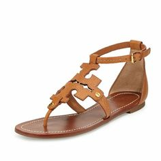 Tory Burch Tan Phoebe Gladiator Flat Thong Sandal Product details: Royal tan, Elba Tumbled leather, adjustable ankle strap. Boasting the iconic Tory Burch logo and the intricate topstitching, this Sumptuous leather pair of sandals is a seasonal favorite.; leather upper, lining; rubber sole. New in box Tory Burch Shoes Sandals
