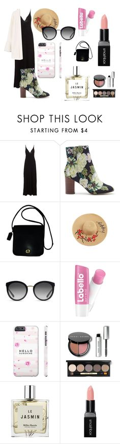 """Comfy outfit"" by ballet-beautiful on Polyvore featuring Cosabella, Sole Society, Coach, Dolce&Gabbana, Bobbi Brown Cosmetics, Miller Harris, Smashbox, MANGO, Flowers and floralprint"