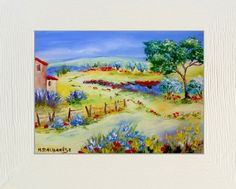 TABLEAU PEINTURE Tableaux de Provence Paysage de Provence campagne, cabanon, l peintre paysagiste - Floraison d'été