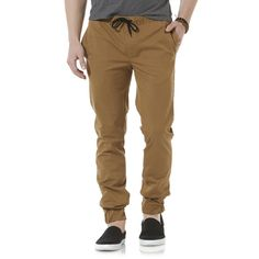 Rethink casual with these young men's jogger pants by Amplify. The twill design gives great weight and shape to these pants, while elasticized cuffs keep the look less refined.