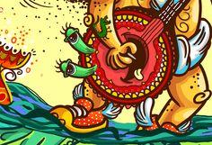 Arte conceito escola Flores do campo. #illustration viniribeiro.com