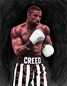Adonis Creed by Kreg Franco Dope Cartoons, Dope Cartoon Art, Rocky Balboa, Workout Quotes For Men, Arlequina Margot Robbie, Boxe Fight, Mike Tyson Boxing, Michael Bakari Jordan, Gym Motivation