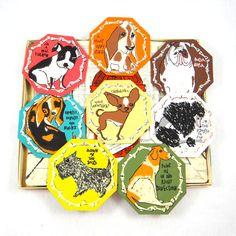 Retro Booze Hound Coaster Set by Stotter by ElizaBellaVintage