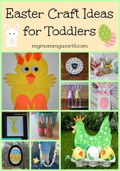 Looking for some easy Easter craft ideas for toddlers to make? This collection of Easter craft ideas for preschoolers is full of fun spring activities for little ones to make to celebrate the season.