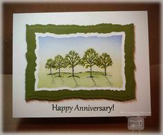 Crafting The Web: The Northwoods FRIDAY, APRIL 12, 2013 Spring Anniversary Trees Tutorial