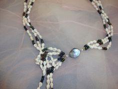 Kravatten-Halsschmuck Müscheli Pearl Necklace, Beaded Necklace, Pearls, Jewelry, Fashion, String Of Pearls, Tops, Neck Chain, Schmuck