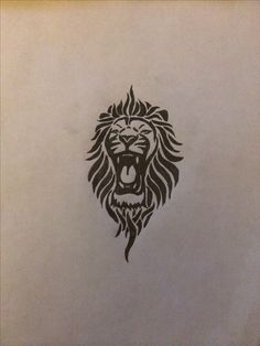 Tribal lion tattoo for my left inner forearm