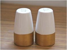 DIY: Color Blocked Shakers, could do this with any shape and any color.