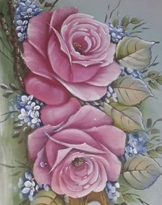 Decoupage Wood, Fabric Paint Designs, Flower Bird, Flower Pictures, Fabric Painting, Beautiful Roses, Diy And Crafts, Artwork, Elegant