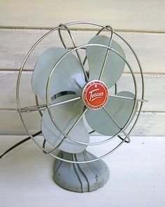 Summertime Sourcelist Fancy Fans is part of Vintage fans C unit, we could all use a little help during the heat of the day! On the hunt for a stylish table fan for our workroom, I assembled ten of t - Vintage Fans, Desk Fan, Stylish Tables, Cool Stuff, Vintage Items, Vintage Industrial, Retro Fan, Vintage, Classic House
