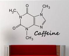 Caffeine Molecule Wall Decal Vinyl Sticker Art Decor Bedroom Design Mural education science educational geek nerd teach creative art by StateOfTheWall on Etsy https://www.etsy.com/listing/227998543/caffeine-molecule-wall-decal-vinyl