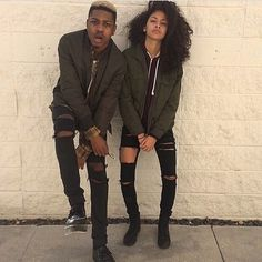 13 Cutest Matching Outfits For Black Couples Couple Style, Matching Couple Outfits, Matching Couples, Tomboy Fashion, Punk Fashion, Picture Outfits, Cute Outfits, Emo Outfits, Rock Outfits
