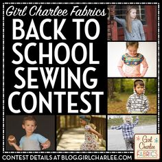 Girl Charlee Fabrics Back to School Sewing Contest is going on now! To enter, all you have to do is sew up any of our adorable indie children's sewing patterns into playground ready garments, and you could win a $75 Girl Charlee gift card! Contest details and more on The Girl Charlee Blog.