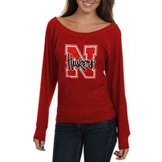 Nebraska Cornhuskers Womens Bernice Long Sleeve T-Shirt - Scarlet