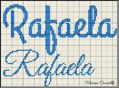 Resultado de imagem para grafico nome rafaela em ponto cruz