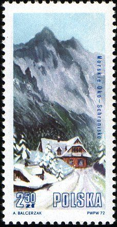 Stamp%3A%20Morskie%20Oko%2C%20Rybiego%20Potoku%20Valley%20(Poland)%20(Mountain%20Lodges%20in%20Tatra%20National%20Park)%20Mi%3APL%202208%2CSn%3APL%201934%2CYt%3APL%202054%2CPol%3APL%202061%20%23colnect%20%23collection%20%23stamps