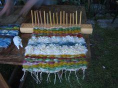 Peg loom weaving  by Tostrupaci, via Flickr