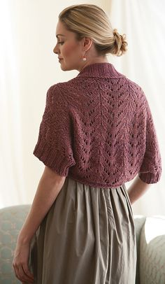 Ravelry: Tallulah Shrug pattern by Courtney Kelley - want it for a bedjacket!